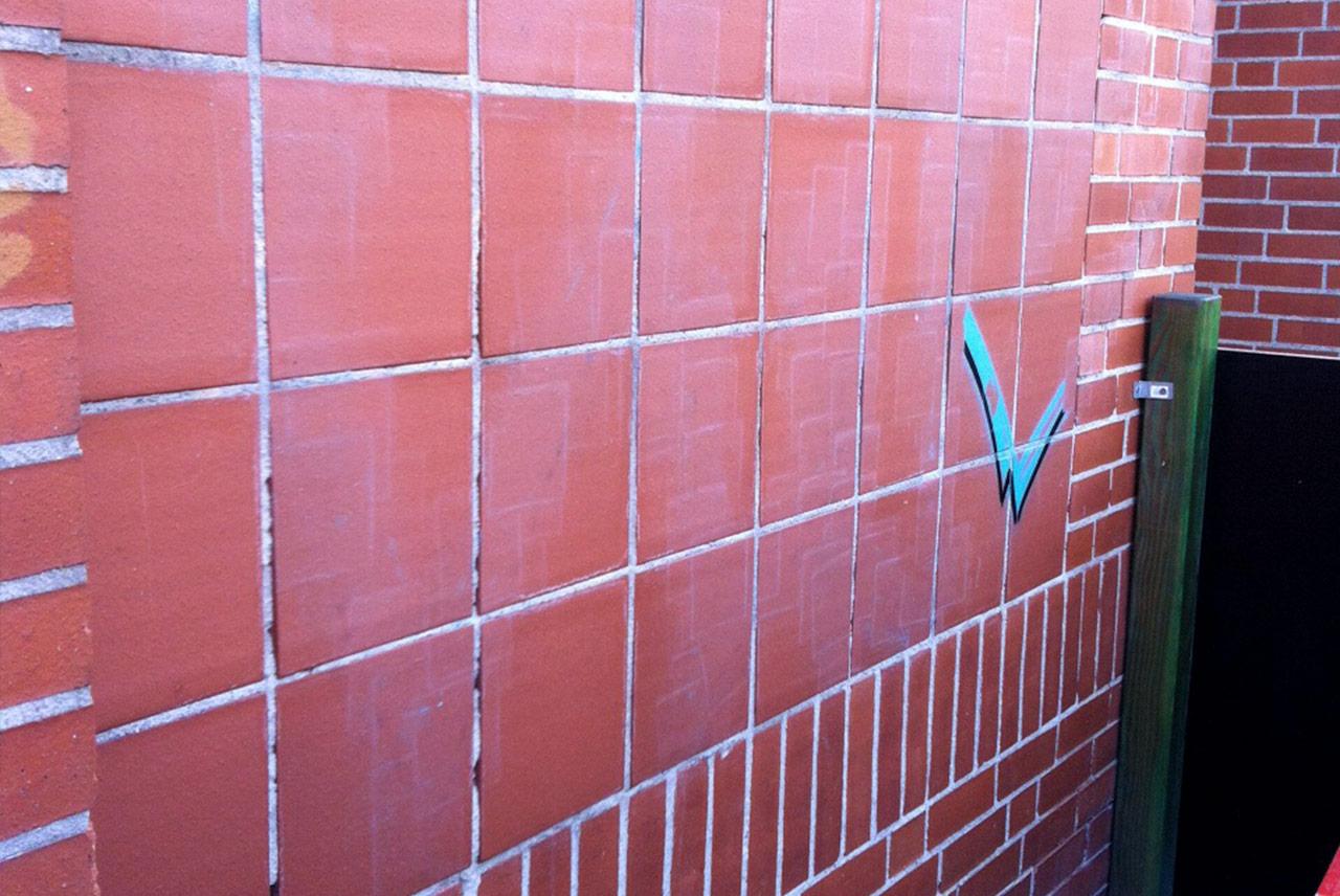 After-klinker graffiti entfernung
